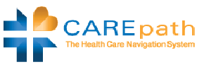 Carepath Logo with link to open company home page in new tab